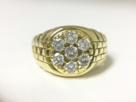 Grove 18 K Gouden Heren Ring 1,05 crt Diamant G/H VVS - 7,05 g