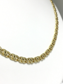 18 K Gouden Valkoog Schakel Ketting - 53 cm / 18,2 g