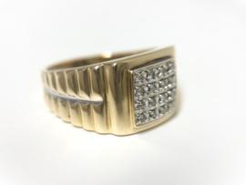 14 K Gouden Heren Rolex Ring 0.16 crt Briljantgeslepen Diamant G/VSI