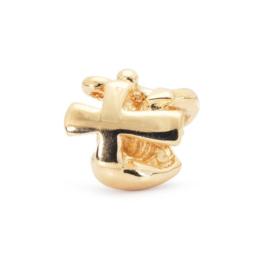 18 K Gouden Trollbeads TAUBE-00066 Geloof Hoop Liefde