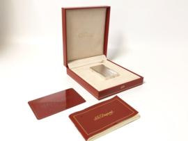 S.T. Dupont Zilveren Aansteker Diamond Tips / Lijnen - Ligne 1 Full Set
