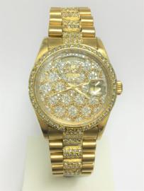 18 K Gouden Rolex President Day Date Ref. 18078 - DIAMANT / 145,7 g - Heren Polshorloge