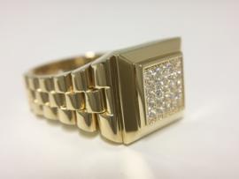 14 K Gouden Heren Rolex Ring - 8,2 g