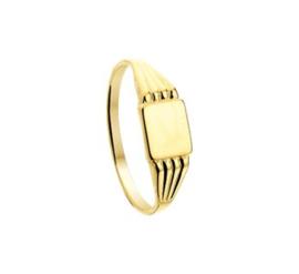 14 K Gouden Graveer Ring - Mt 16 mm