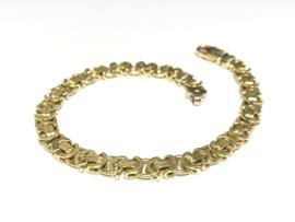 14 K Gouden Konings Armband - 22 cm / 26,51 g / 6,5 mm