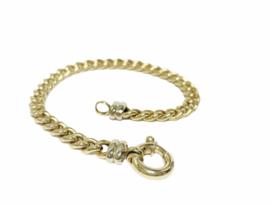 14 K Gouden Gourmet Slot Armband - 20,5 cm / 12,1 g / 6,5 mm