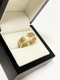 NIESSING 18 K Massief Gouden Design Band Ring - 11,64 g / 6,2 mm