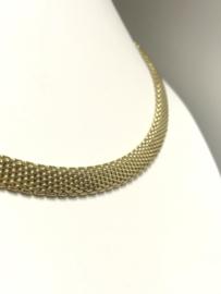14 K Gouden Milanese Schakelketting - 44,5 cm / 56,5 g