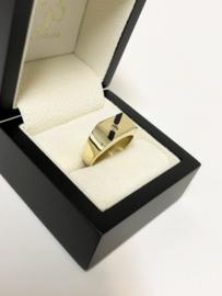 Gouden Heren Ring - Onyx / Zirkonia