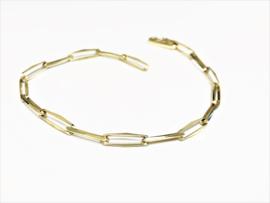 14 K Gouden Closed Forever Schakel Armband - 18,5 cm / 4,8 g