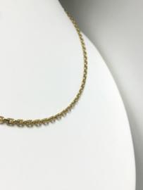 18 K Gouden Anker Collier (verstelbaar) - 41/46 cm