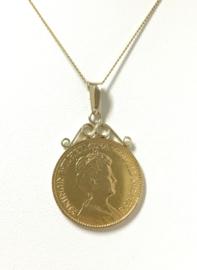 Antiek Gouden Hanger - Gouden Tientje Wilhelmina 1912