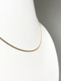 14 K Gouden Gourmet Collier - 43 cm / 1,5 mm