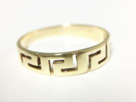 14 K Gouden Versace Ring  (Meander)