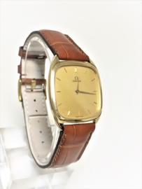 OMEGA 14 K Gouden Vintage Dresswatch No Crown - Type de Ville Jaren '80