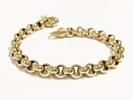 14 K Gouden Jasseron Slot Armband - 20 cm / 21,1 g