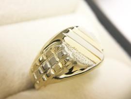 18 K Bicolor Gouden Heren Ring - 5,85 g