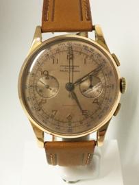 18 K Gouden Chronographe Suisse Ancre - Jaren 50