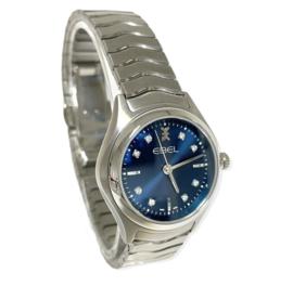 Ebel Wave Diamond Sunray Dial Blue - Nieuw in Doos / Full Set 3 Jaar Garantie EBEL