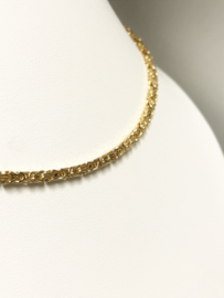 14 K Gouden Dames Koningsketting Byzantijns - 40 cm / 19,9 g