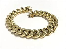 Grove 14 K Gouden Gourmet Schakel Armband  - 21 cm / 32,25 g