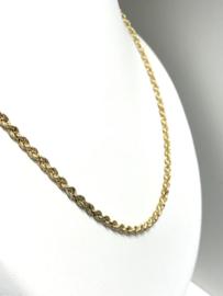 14 K Gouden Koord / Kabel / Rope Ketting - 80 cm / 12 g / 3 mm