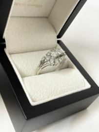 14 K Witgouden Slagring ca 1.25 crt Briljant Geslepen Diamant - G / VS2