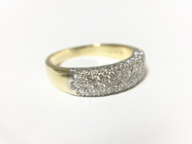 18 K Gouden Bandring 0.84 crt Briljantgeslepen Diamant