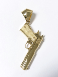 14 K Gouden Hanger Pistool - 5,5 cm / 9,6 g