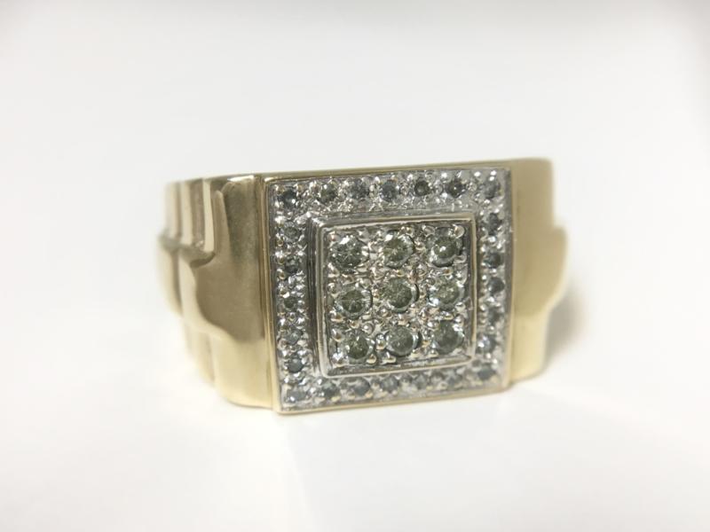 14 K Gouden Heren Rolex Ring 0.50 crt Briljantgeslepen Diamant - 9,35 g