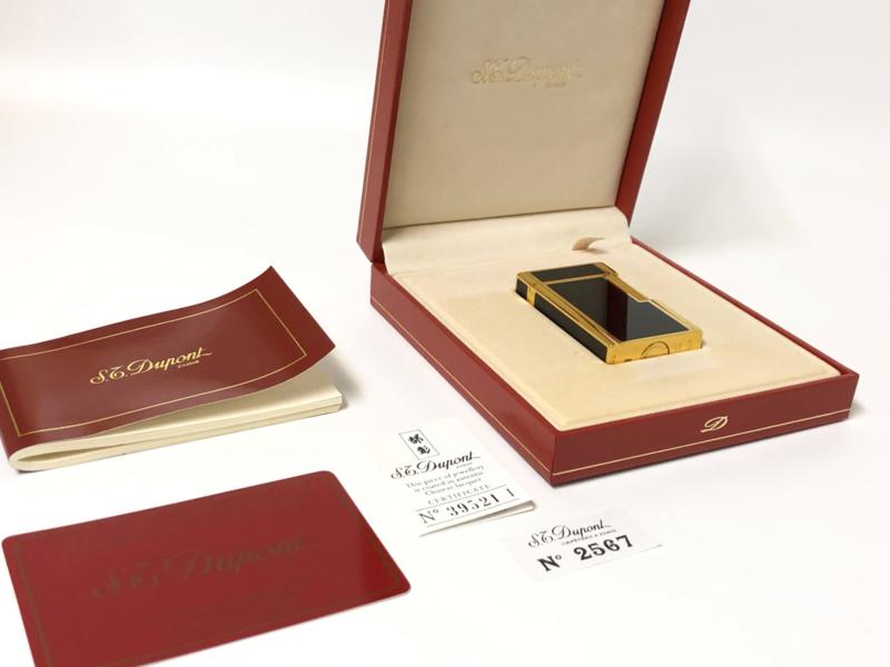 S.T. Dupont Laque de Chine Noir Aansteker - Full Set