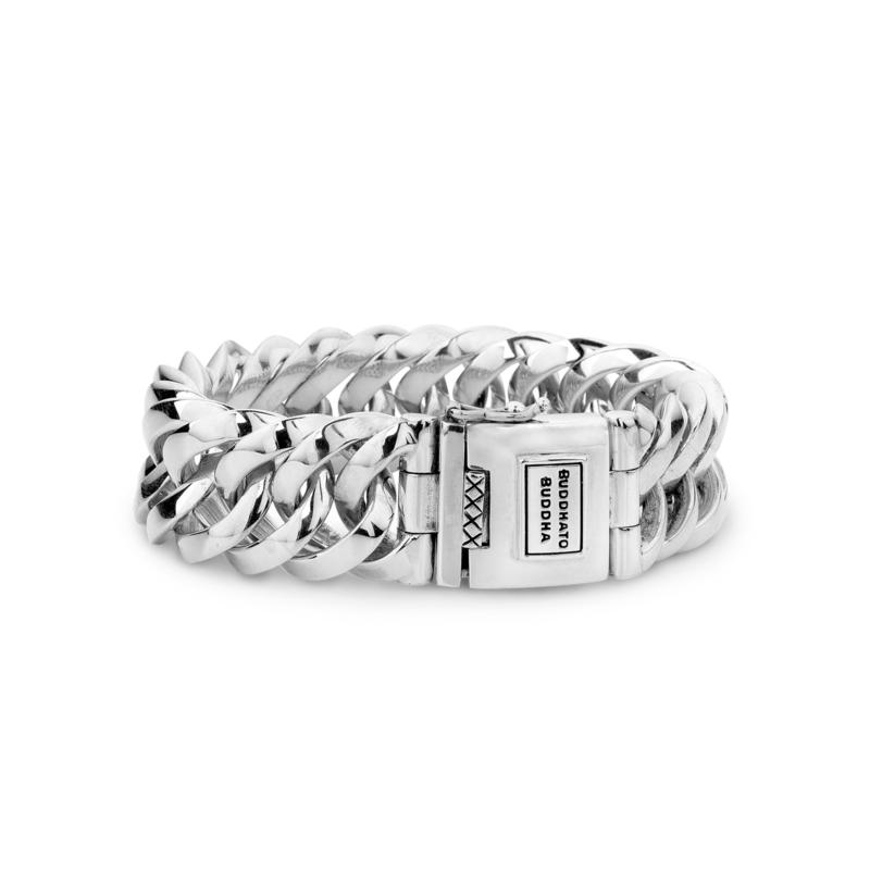 Buddha to Buddha Big Chain Zilveren Armband - 19,5 cm / Unisex