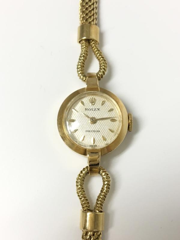 14 K Gouden Rolex Precision Dames - Handopwinder Jaren 50/60