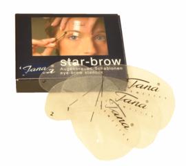 Wenkbrauwe-  Eyebrow sjablonen Starbrow