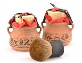 2 x Egypt Wonder Aardewerkpot nu met gratis Kabuki Kwast
