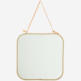 madam stoltz - hangende spiegel goud