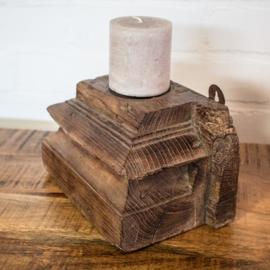 ophangbare kandelaar hout