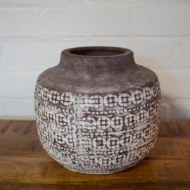 bohemian aardewerk pot rond