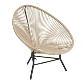 new routz - fauteuil 'Rope' met metalen onderstel
