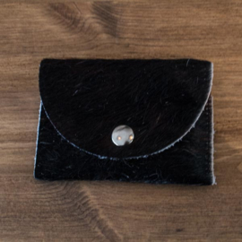 portemonnee donkerbruin/zwart