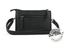 zwart heuptasje en schoudertasje zwart