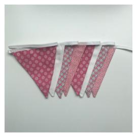 Vlaggenlijn Roze Wit