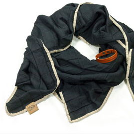 zomerse sjaal sunny zwart