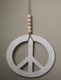 Peace teken 40 cm wit