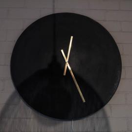 klok zwart leisteen / goud