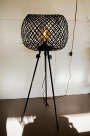 staande lamp metaal bol