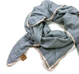 zomerse sjaal sunny grijs/blauw