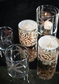 madam stoltz - glas met blad motief