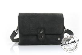 heup / schoudertasje zwart