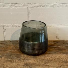 donkergroen sfeerlicht glas M